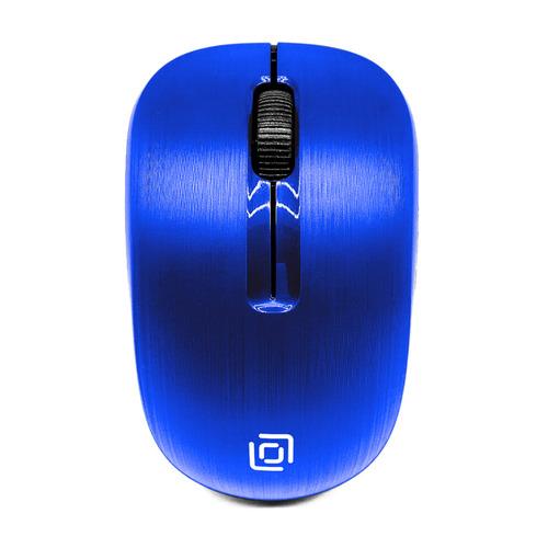 Мышь OKLICK 525MW, оптическая, беспроводная, USB, синий [525mw blue] мышь oklick 475mw оптическая беспроводная usb черный и синий [tm 1500 black blue]