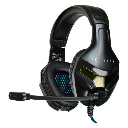 Гарнитура игровая ОКЛИК HS-L370G ECLIPSE, для компьютера, мониторные, черный HS-L370G ECLIPSE по цене 850