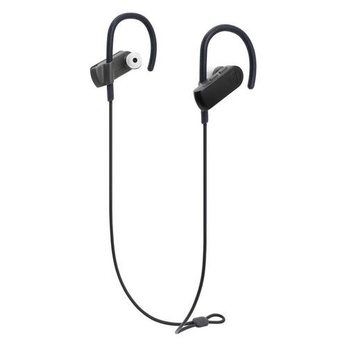 Наушники с микрофоном AUDIO-TECHNICA ATH-SPORT50BT, Bluetooth, вкладыши, черный [15119959] цена и фото