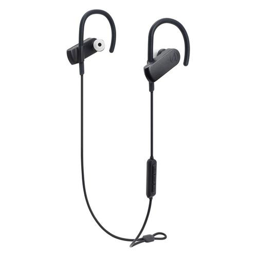 Наушники с микрофоном AUDIO-TECHNICA ATH-SPORT70BT, Bluetooth, вкладыши, черный [15119963] цена и фото