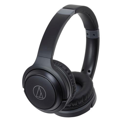 Наушники с микрофоном AUDIO-TECHNICA ATH-S200BT, Bluetooth, накладные, черный [15120050] наушники audio technica ath ws550is brd 3 5 мм накладные черный красный [10102360]