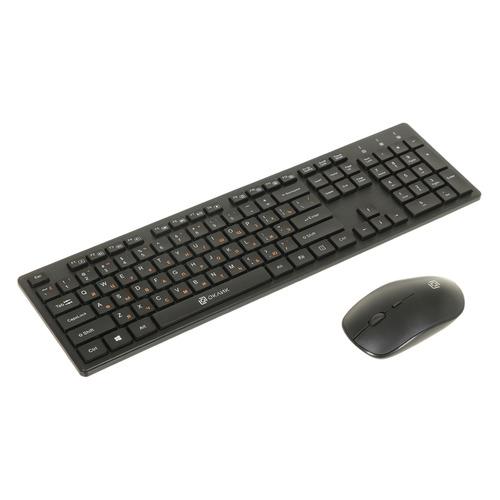 Комплект (клавиатура+мышь) OKLICK 240M, USB, беспроводной, черный [240mblack]
