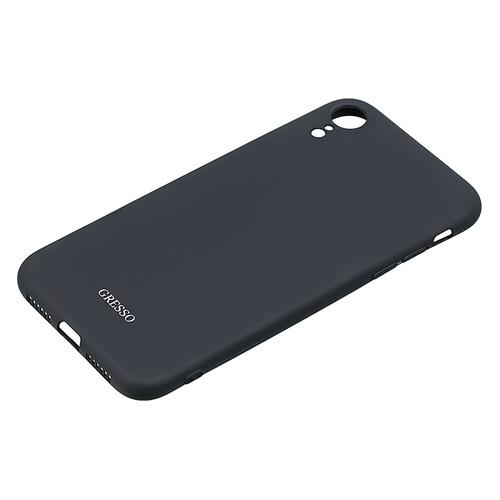 Чехол (клип-кейс) GRESSO Meridian, для Apple iPhone XR, черный [gr17mrn357]