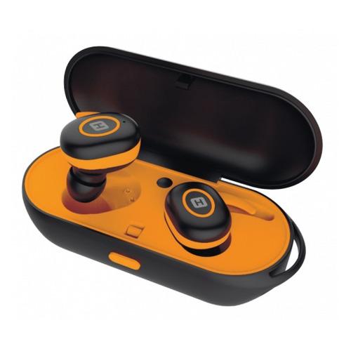 Наушники с микрофоном HARPER HB-510, Bluetooth, вкладыши, черный/оранжевый [h00002184] H00002184
