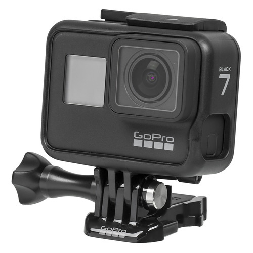 Экшн-камера GOPRO HERO7 Black Edition 4K, WiFi, черный [chdhx-701-rw] ru warehouse soocoo s100 4k sport sports camera 4k wifi built in gyro with gps extension gps model not include action cam