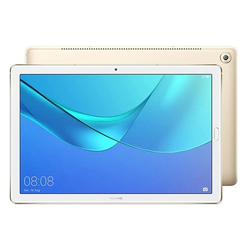 Планшет HUAWEI MediaPad M5 10.0, 4GB, 64GB, 3G, 4G, Android 8.0 золотистый [53010blk] teclast t10 10 1 inch android tablet pc 2560 x 1600 resolution mtk8176 4g 64g 13mp fingerprint recognition