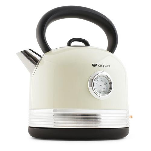 Чайник электрический KitFort КТ-634-3, 2150Вт, бежевый