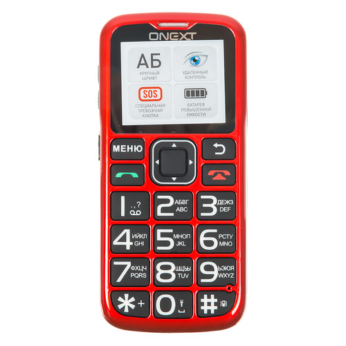 Мобильный телефон ONEXT Care-Phone 5, красный