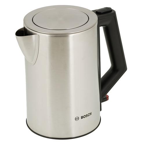 Чайник электрический BOSCH TWK7101, 2200Вт, нержавеющая сталь чайники электрические bosch чайник bosch twk7801 1 7л 2200вт