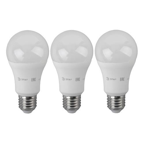 цена Лампа ЭРА Standard A60-17W-840-E27, 17Вт, 1360lm, 30000ч, 4000К, E27, 3 шт. [б0038514] онлайн в 2017 году