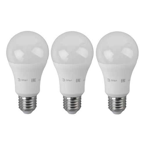 Лампа ЭРА Standard A60-17W-860-E27, 17Вт, 1360lm, 30000ч, 6000К, E27, 3 шт. [б0038515] стоимость