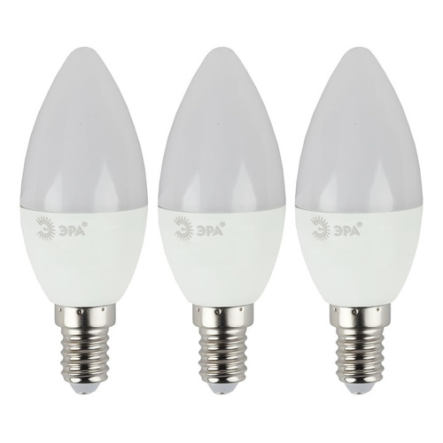 Фото - Упаковка ламп LED ЭРА E14, свеча, 9Вт, 4000К, белый нейтральный, B35-9w-840-E14, 3 шт. [б0038519] упаковка ламп led эра e14 свеча 6вт 4000к белый нейтральный b35 6w 840 e14 3 шт [б0020619]