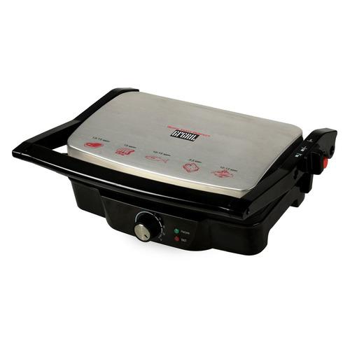 цена на Электрогриль GFGRIL GF-025 PANINI-GRILL, серебристый и черный