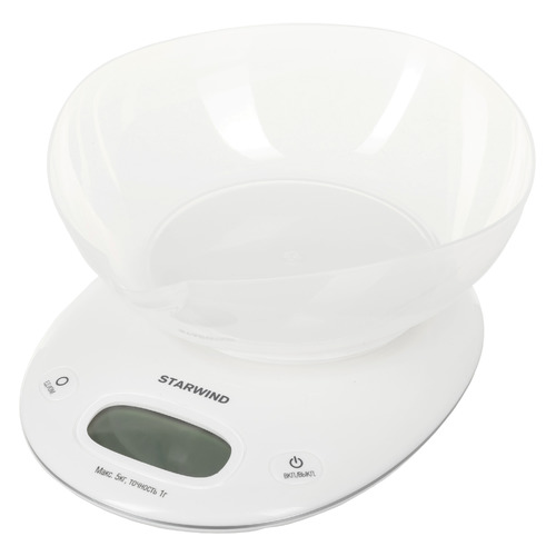 Весы кухонные STARWIND SSK4171, белый весы кухонные 5кг механические пластик