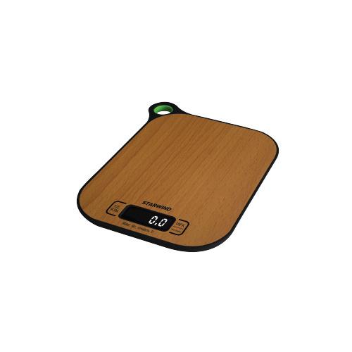 Весы кухонные STARWIND SSK2070, бамбук весы кухонные 5кг механические пластик