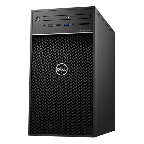 Рабочая станция DELL Precision 3630, Intel Xeon E3 2124, DDR4 8Гб, 1000Гб, 256Гб(SSD), NVIDIA Quadro P1000 - 4096 Мб, DVD-RW, CR, Windows 10 Professional, черный [3630-5581] dell dell precision 7710 черный hdd 1 тб ssd 512 мб intel xeon e3 1535m