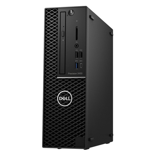 Рабочая станция DELL Precision 3430, Intel Core i7 8700, DDR4 16Гб, 256Гб(SSD), NVIDIA Quadro P1000 - 4096 Мб, DVD-RW, Windows 10 Professional, черный [3430-2370] системный блок intel профессиональный компьютер pro p273 core i5 6500 3 2ghz 8gb ddr4 2tb 240gb ssd dvd rw nvidia quadro m2000 4gb 500w windows 10 professional cy 536738 p273
