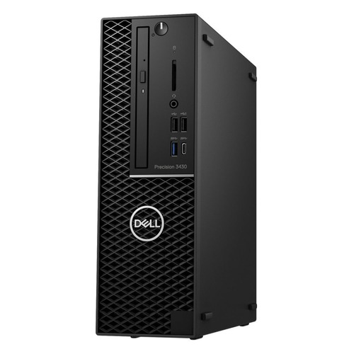Рабочая станция DELL Precision 3430, Intel Xeon E3 2124, DDR4 8Гб, 1000Гб, 256Гб(SSD), NVIDIA Quadro P1000 - 4096 Мб, DVD-RW, Linux, черный [3430-5666] dell dell precision 7710 черный hdd 1 тб ssd 512 мб intel xeon e3 1535m