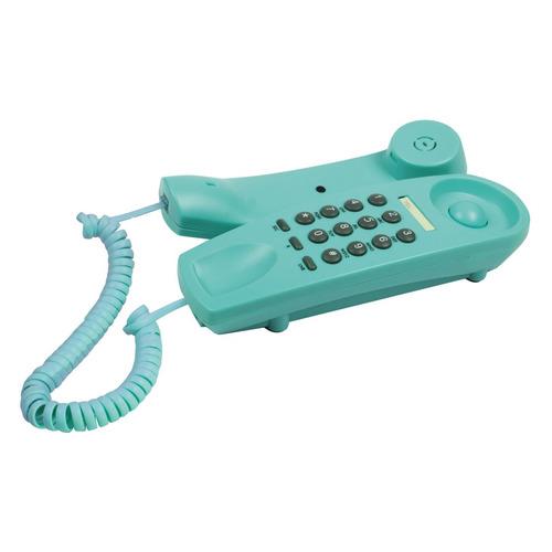 Проводной телефон RITMIX RT-005, бирюзовый проводной телефон ritmix rt 005 черный