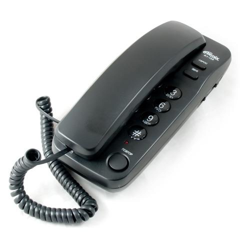 Проводной телефон RITMIX RT-100, черный проводной телефон ritmix rt 005 черный