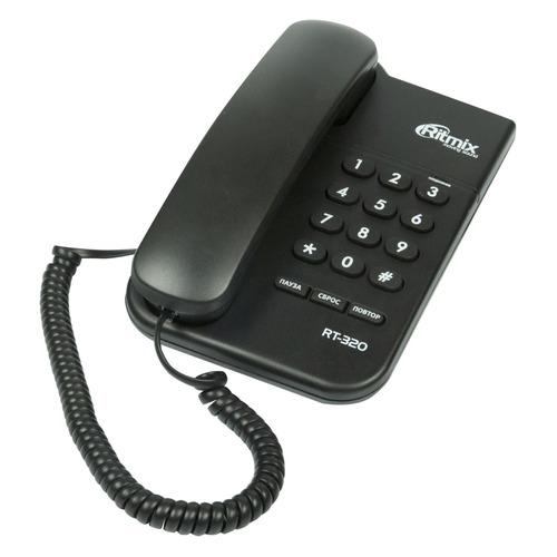 Проводной телефон RITMIX RT-320, черный проводной телефон ritmix rt 005 черный