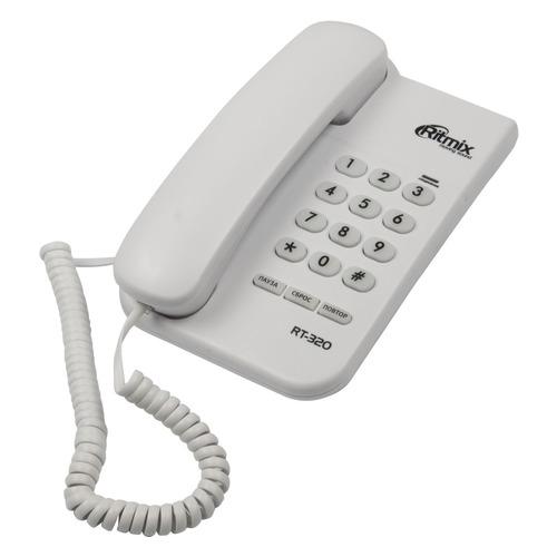 Проводной телефон RITMIX RT-320, белый проводной телефон ritmix rt 330 белый