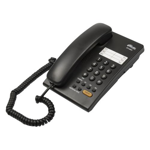Проводной телефон RITMIX RT-330, черный проводной телефон ritmix rt 005 черный
