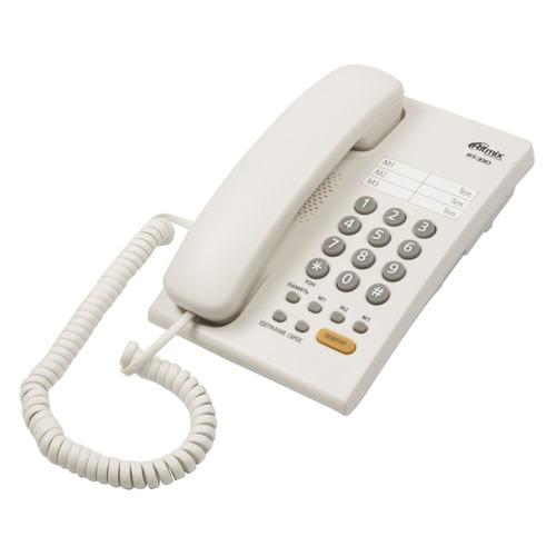 Проводной телефон RITMIX RT-330, белый проводной телефон ritmix rt 330 белый