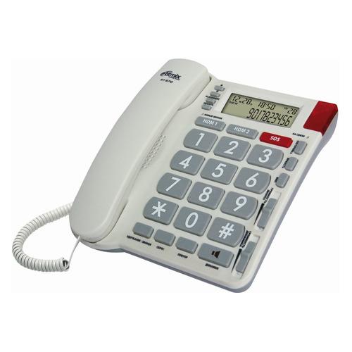 Проводной телефон RITMIX RT-570, белый проводной телефон ritmix rt 330 белый