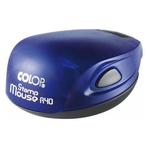 Печать самонаборная COLOP Stamp Mouse R40/1 SET, оттиск 40 мм, шрифт 3.1 мм, 1 текста, круглый м с пелевин хатакская хроника корпус и функции текста