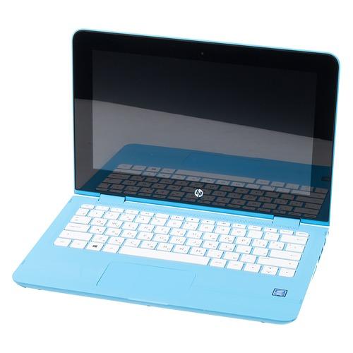 Ноутбук-трансформер HP x360 11-ab196ur, 11.6, IPS, Intel Pentium Silver N5000 1.1ГГц, 4Гб, 500Гб, Intel UHD Graphics 605, Windows 10, 4XY18EA, голубой цена
