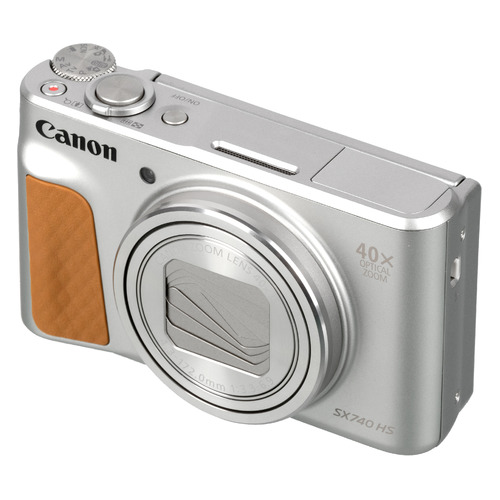 Фото - Цифровой фотоаппарат CANON PowerShot SX740HS, серебристый фотоаппарат canon powershot sx740 hs серебристый коричневый