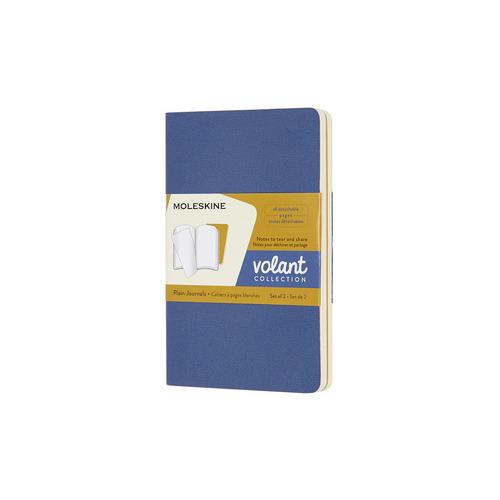 Блокнот Moleskine VOLANT Pocket 90x140мм 80стр. нелинованный мягкая обложка синий/желтый янтарный (2 цены онлайн