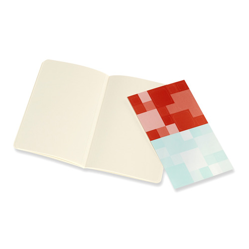 Блокнот Moleskine VOLANT Pocket 90x140мм 80стр. нелинованный мягкая обложка оранжевый/голубой (2шт) цены онлайн