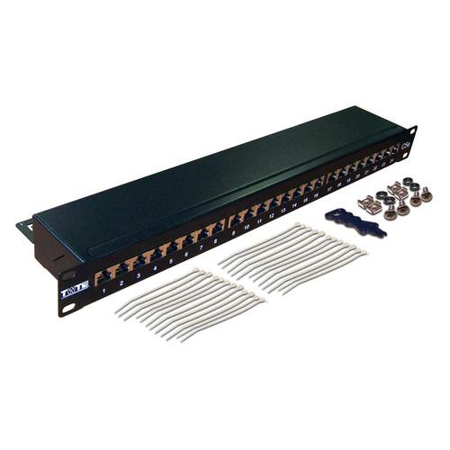 Патч-панель Lanmaster (TWT-PP24STP/6) 19 1U 24xRJ45 кат.6 FTP фальшпанель заглушка 19 1u серая nt fpanel 1u g