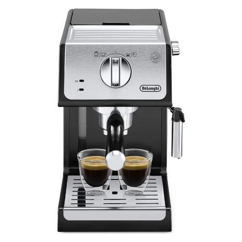 Кофеварка DELONGHI ECP33.21.BK, эспрессо, черный [0132104182] кофеварка эспрессо delonghi ecp33 21 r 1100вт красный