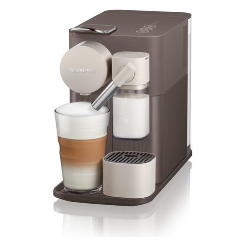 Капсульная кофеварка DELONGHI Nespresso Latissima one EN500.Brown White, 1400Вт, цвет: бежевый [0132193275] капсульная кофеварка delonghi nespresso en550b 1400вт цвет черный [132193182]