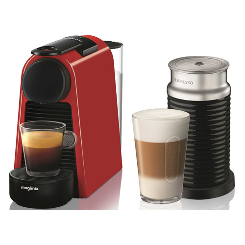 Капсульная кофеварка DELONGHI Nespresso Essenza mini Bundle EN85.RAE, 1260Вт, цвет: красный [0132191664] цена и фото