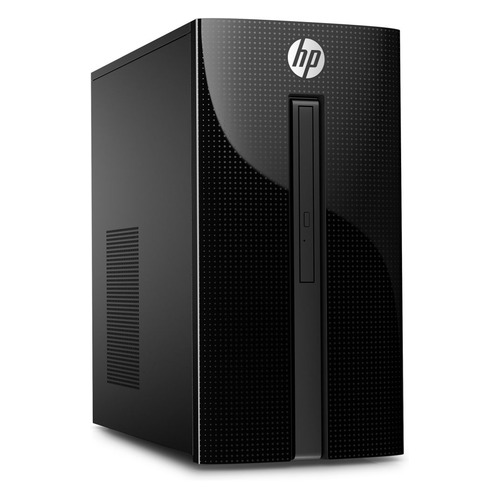 Компьютер HP 460-a210ur, Intel Pentium Quad-Core J3710, DDR3L 4Гб, 1000Гб, Intel HD Graphics, DVD-RW, Free DOS 2.0, черный [4xj29ea] ноутбук hp 15 ra028ur 15 6 intel pentium n3710 1 6ггц 4гб 500гб intel hd graphics 405 dvd rw free dos 3fz04ea черный