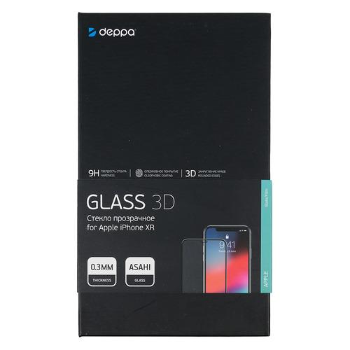 Защитное стекло для экрана DEPPA 62445 для Apple iPhone XR/11 3D, 1 шт, черный