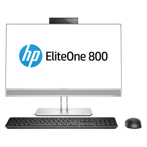 "Моноблок HP EliteOne 800 G4, 23.8"", Intel Core i7 8700, 16Гб, 512Гб SSD, Intel UHD Graphics 630, DVD-RW, Windows 10 Professional, серебристый [4kx18ea] цены онлайн"
