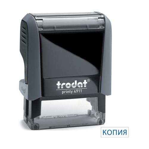 Текстовый штамп автоматический TRODAT 4911/DB КОПИЯ, оттиск 38 х 14 мм, шрифт 3.1/2.2 мм, прямоугольный [4911/db/l1.9 printy 4.0] 4911/DB КОПИЯ по цене 432