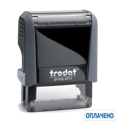 Фото - Текстовый штамп автоматический TRODAT 4911/DB ОПЛАЧЕНО, оттиск 38 х 14 мм, шрифт 3.1/2.2 мм, прямоугольный [4911/db/l1.2 printy 4.0] рама алюминиевая lm print 508 х 710 мм профиль 38 х 38 х 1 8 мм