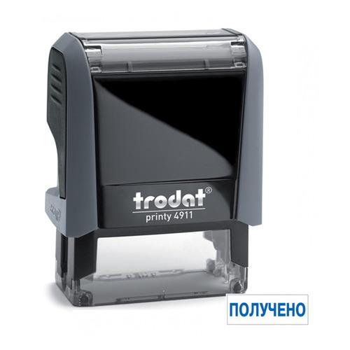 Фото - Текстовый штамп автоматический TRODAT 4911/DB ПОЛУЧЕНО, оттиск 38 х 14 мм, шрифт 3.1/2.2 мм, прямоугольный [4911/db/l1.1 printy 4.0] рама алюминиевая lm print 508 х 710 мм профиль 38 х 38 х 1 8 мм