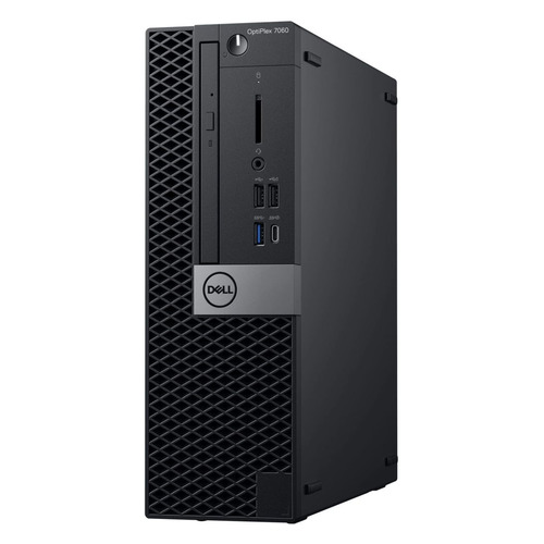 Компьютер DELL Optiplex 7060, Intel Core i7 8700, DDR4 8Гб, 1000Гб, 256Гб(SSD), AMD Radeon RX 550 - 4096 Мб, DVD-RW, Windows 10 Professional, черный и серебристый [7060-6177] компьютер lenovo ideacentre 510 15icb intel core i5 8400 ddr4 8гб 1000гб amd radeon rx 550 2048 мб dvd rw cr windows 10 серебристый [90hu006frs]