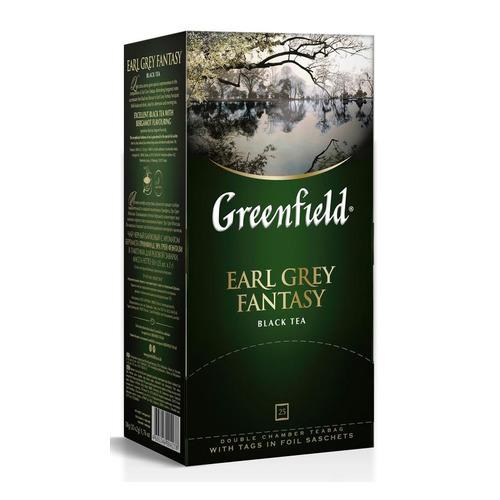 Чай Greenfield Earl Grey Fantasy черный 25пак. карт/уп. (0427-10) 10 шт./кор.