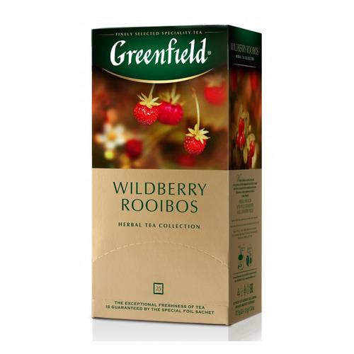 Чай Greenfield Wildberry Rooibos травяной ройбош/земляника 25пак. карт/уп. (1390-10) 10 шт./кор.