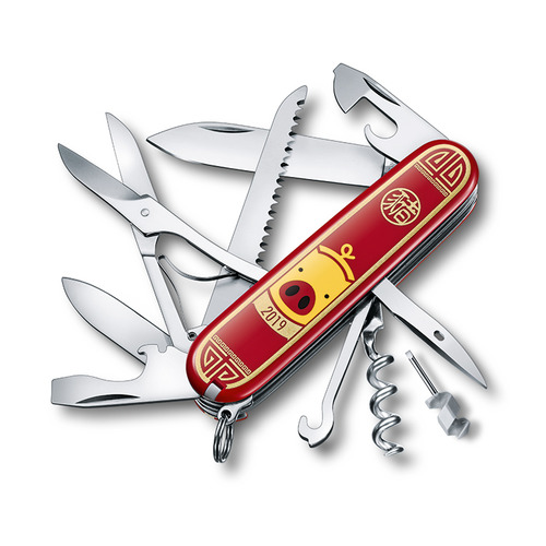 лучшая цена VICTORINOX Huntsman Year of the Pig 2019, 16 функций, 91мм, красный
