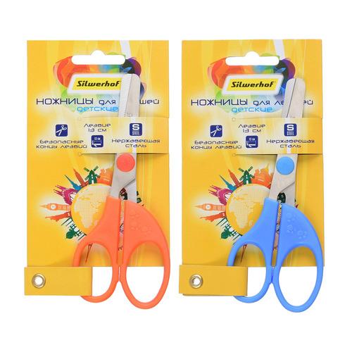 Фото - Упаковка ножниц SILWERHOF 453108 Солнечная коллекция детские, 130мм, ручки пластиковые, ассорти 12 шт./кор. упаковка ножниц maped 463010 детские 24 шт кор