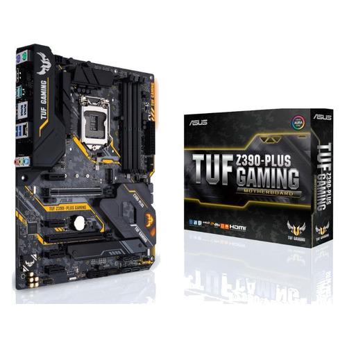 Материнская плата ASUS TUF Z390-PLUS GAMING, LGA 1151v2, Intel Z390, ATX, Ret материнская плата asrock z390 phantom gaming 4 lga 1151v2 intel z390 atx ret